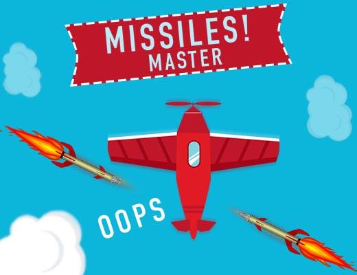 لعبة مطاردة الصواريخ