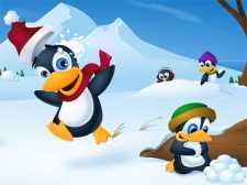 Søt pingvin lysbilde