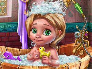 لعبة العناية بحمام الطفل