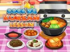 Aula de culinária coreana