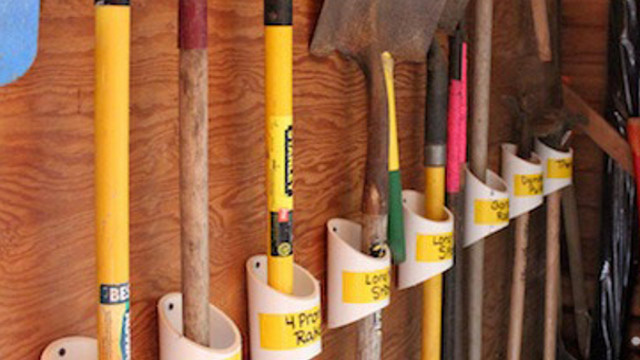 Keep Your Garden Tools Organised With A PVC Storage Rack