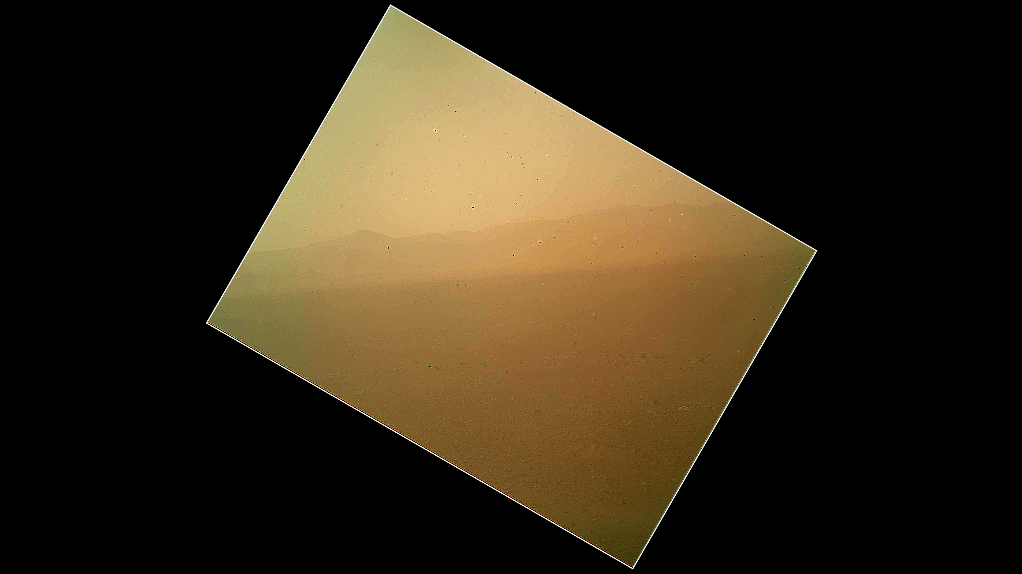 The Curiosity Rover's First Color Photo of Mars