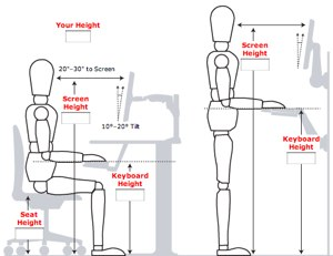 ergonomically correct chair farmhouse table and 4 set how to optimize your workspace