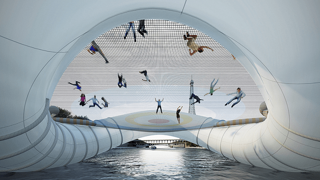In the future, everything will be made from trampolines