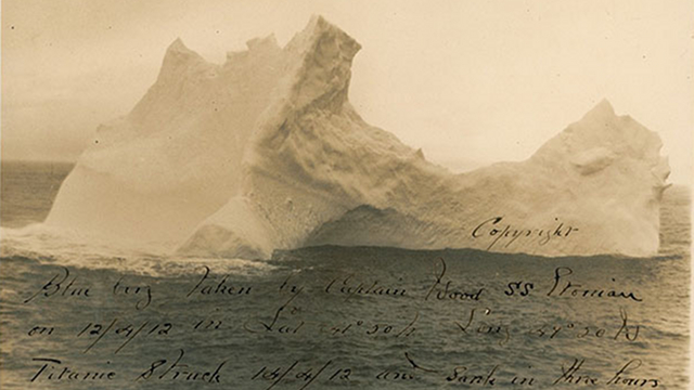 The only known photo of the iceberg that sank the Titanic is up for sale