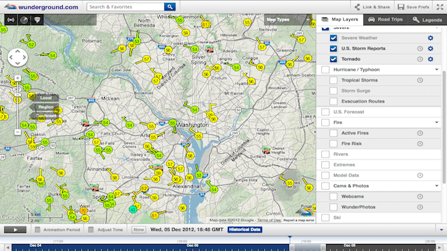 Click here to read The New Weather Underground Wundermap Offers Current Conditions, Plans Trips, Even Helps Buy a Home