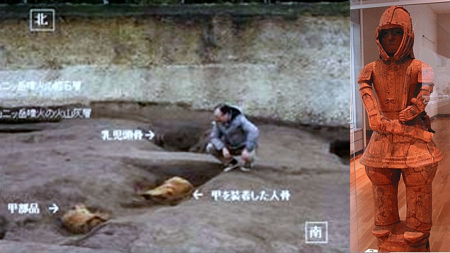 Archaeologists at 'Pompeii of Japan' site find a 1,400 year-old warrior still wearing his armour