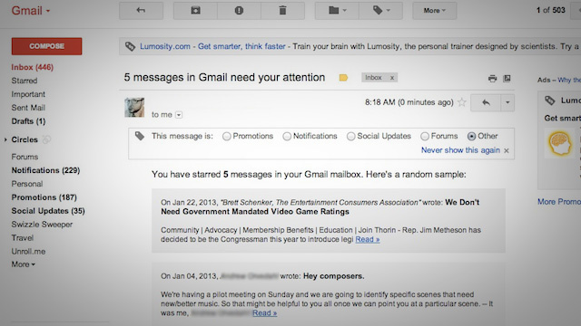 Click here to read Use a Google Script to Automatically Get Reminders to Follow Up On Starred Emails in Gmail