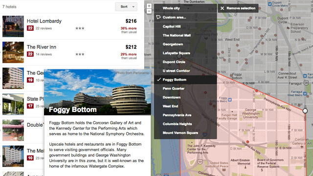 Click here to read Google's Hotel and Flight Finders Now Show Neighborhood Information