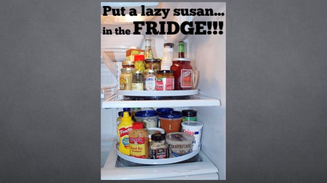 Click here to read Organize Your Fridge With a Lazy Susan