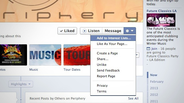 "Click here to read Add Pages to Your Facebook ""Interest Lists"" Instead of Liking Them"