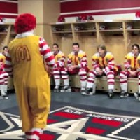 "Ronald McDonald goes Herb Brooks with ""Miracle"" Speech to Hockey Team"