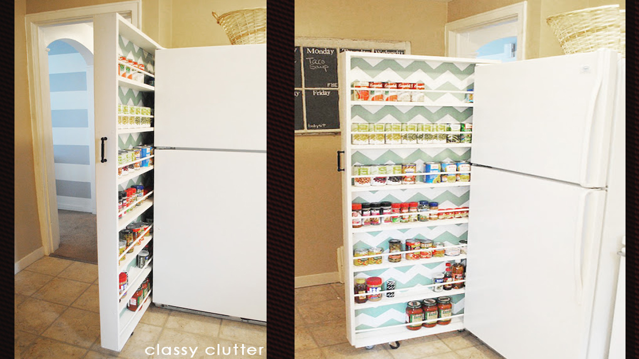 build a space saving roll out pantry