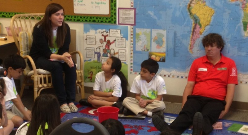Golfer Jason Dufner Appears To Be Having A Lot Of Fun Visiting These Kids In Dallas