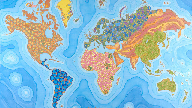 This Beautiful Map Is Made Up of Microscopic Cells