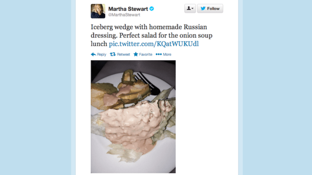 Martha Stewart Can't Stop Tweeting Really Gross Pictures of Food