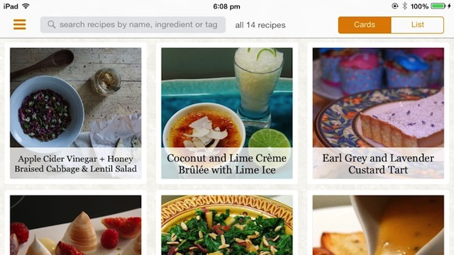 Zest for iPad Collects and Organizes Recipes, Helps You Cook Step-by-Step