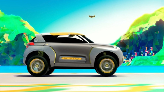 New cool car carries a drone for terrain reconnoissance
