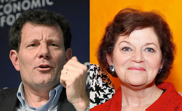 New York Times columnist Nicholas Kristof and book critic Janet Maslin  - peoplewhowrite