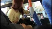 バスで美人OLに痴漢(動画)