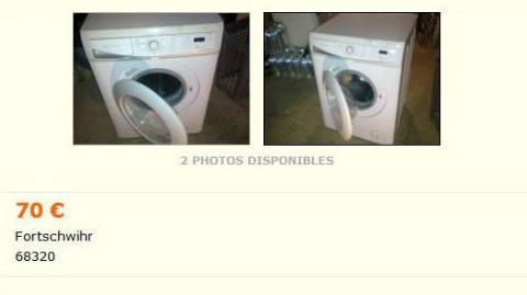 confusion entre un lave vaisselle et un lave linge