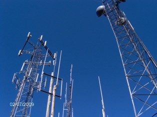 <br /> Lots of communication towers on top of the Dug Mountain summit