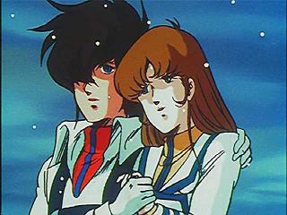 Lisa y Rick tras el combate final contra Kyron