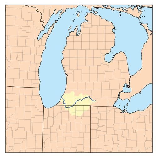 County Mi Hillsdale Map
