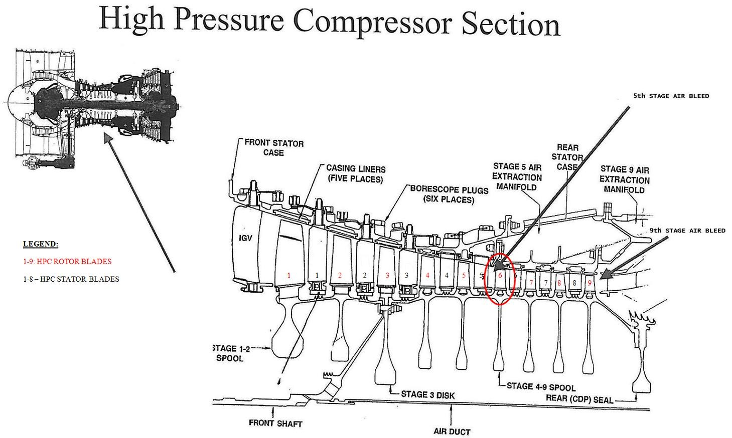 hight resolution of  ez sekc vysokotlak ho kompresoru hpc motoru cfm56 3 cfm56 3 high