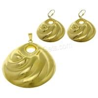 Stainless Steel Jewelry Sets pendant earring Teardrop gold ...