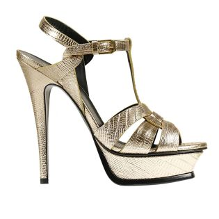 Heels SAINT LAURENT in gold accent