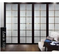 Cheap Modern Interior Decorative Glass Doors / Translucent