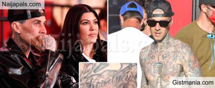 Travis Barker Tattoos New Girlfriend Kourtney Kardashian's ...