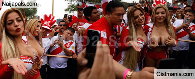 Busty Peru Female Fans Cause A Scene Ahead Of Historic World Cup Qualifier Against Argentina Gistmania