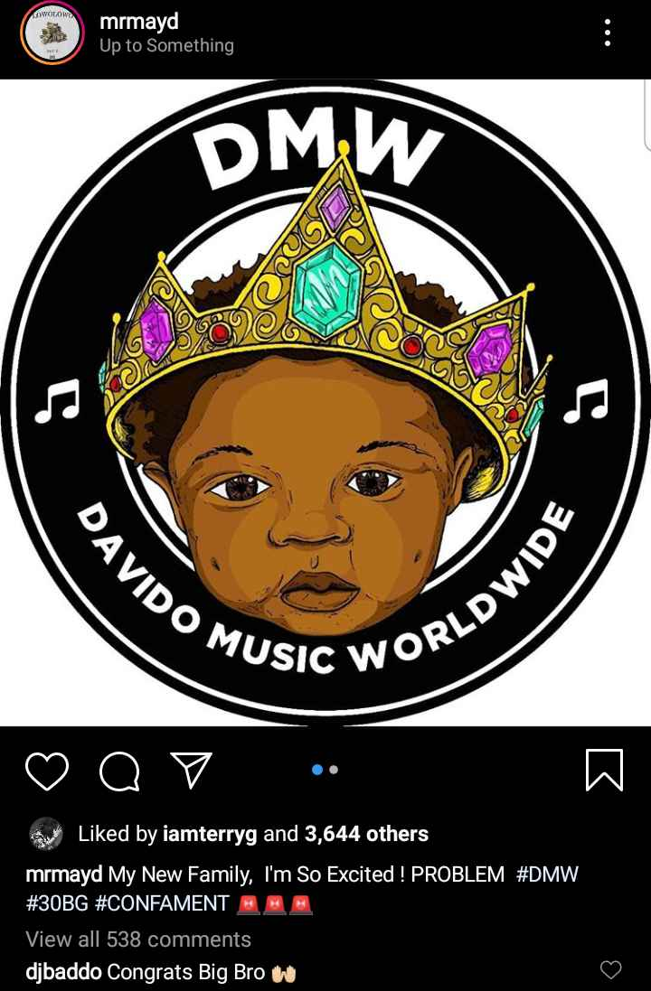 Davido Signs Former Square Records Artiste, May D Into DMW (Photos) 1