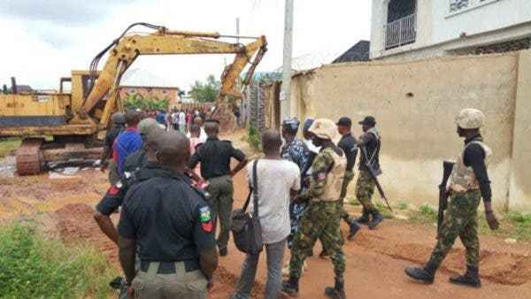 House Belonging To Architect, John Who Pulled Down Airport Fence Demolish By Enugu Govt (Pic) 2