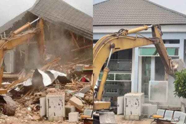 House Belonging To Architect, John Who Pulled Down Airport Fence Demolish By Enugu Govt (Pic) 1