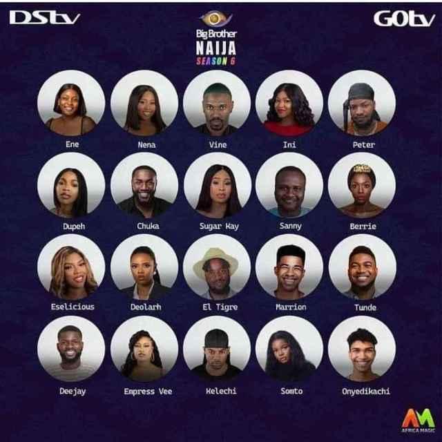 Big Brother Naija Season 6 Housemates