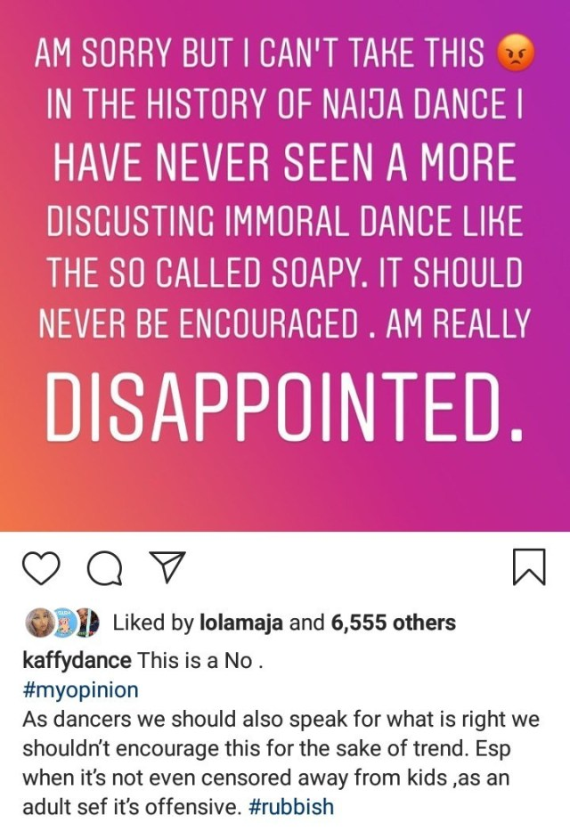 naira marley mocks kaffy for condemning his 'soapy' dance (see photos) NAIRA MARLEY MOCKS KAFFY FOR CONDEMNING HIS 'SOAPY' DANCE (SEE PHOTOS) soapy