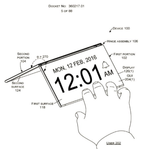 Microsoft's new patent suggests a Surface foldable tablet