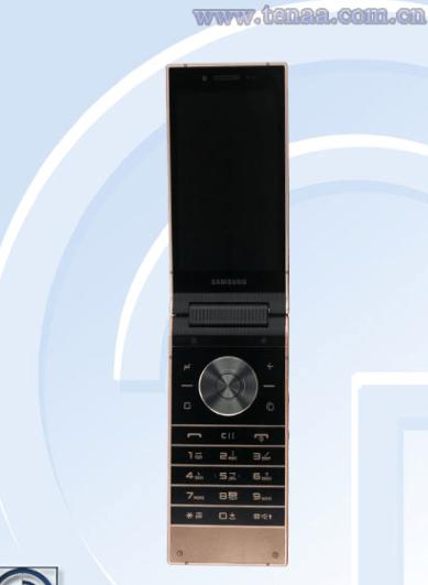 Samsung W2019 high-end Flip Phone com câmeras traseiras duplas passa na TENAA 2