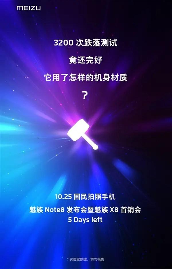 Meizu Note 8 será lançado dia 25 de outubro 2