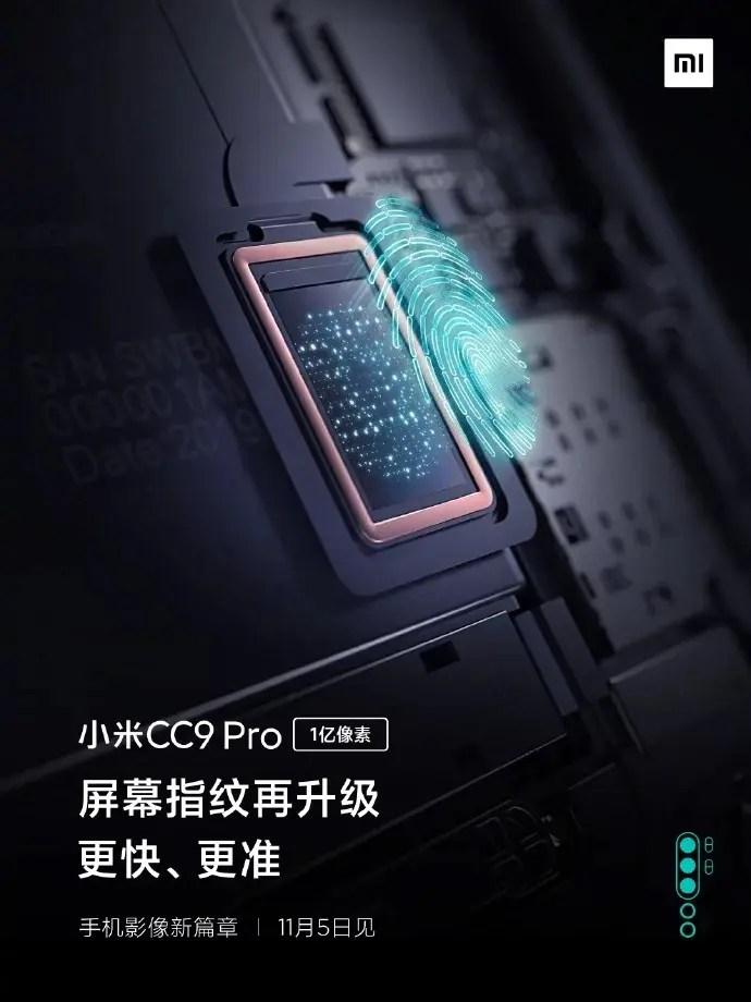 Xiaomi Mi CC9 Pro chega com um sensor de impressão digital avançado no ecrã 2