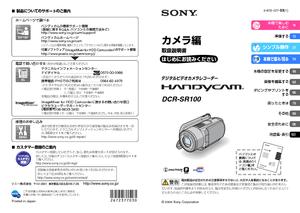 DCR-SR100 (ソニー) の取扱説明書・マニュアル