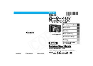 PowerShot A640 (キヤノン) の取扱説明書・マニュアル