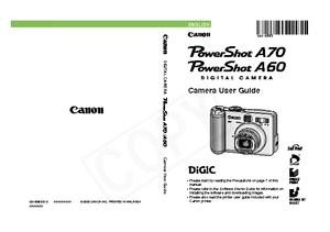 PowerShot A70 (キヤノン) の取扱説明書・マニュアル