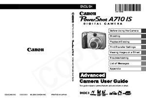 PowerShot A710 IS (キヤノン) の取扱説明書・マニュアル
