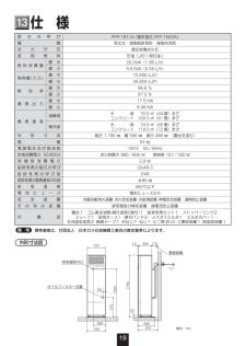 FFP-1811Aの取扱説明書・マニュアル PDF ダウンロード [全24ページ 1.52MB]