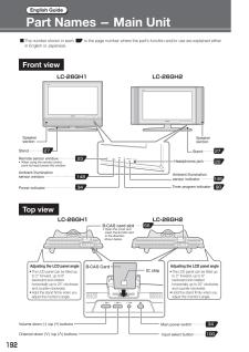 LC-26GH1 (シャープ) の取扱説明書・マニュアル