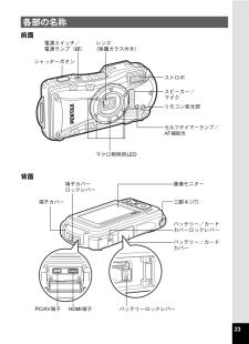 ペンタックス デジタルカメラの取扱説明書・マニュアル PDF ダウンロード [全308ページ 16.30MB]